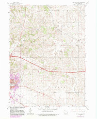 Download a high-resolution, GPS-compatible USGS topo map for Iowa City East, IA (1983 edition)