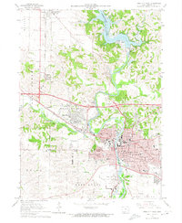 Download a high-resolution, GPS-compatible USGS topo map for Iowa City West, IA (1974 edition)
