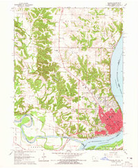 Download a high-resolution, GPS-compatible USGS topo map for Keokuk, IA (1965 edition)