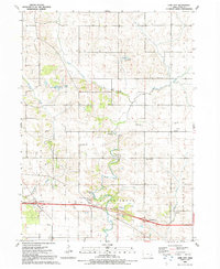 Download a high-resolution, GPS-compatible USGS topo map for Lime City, IA (1992 edition)