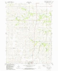 Download a high-resolution, GPS-compatible USGS topo map for Lorimor North, IA (1984 edition)