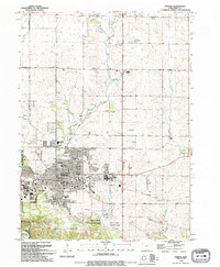 Download a high-resolution, GPS-compatible USGS topo map for Marion, IA (1994 edition)