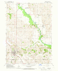 Download a high-resolution, GPS-compatible USGS topo map for Monroe, IA (1966 edition)