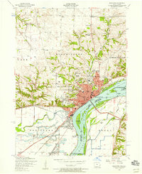 Download a high-resolution, GPS-compatible USGS topo map for Muscatine, IA (1958 edition)