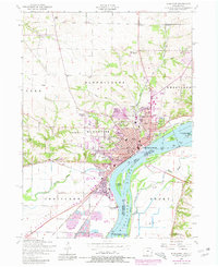 Download a high-resolution, GPS-compatible USGS topo map for Muscatine, IA (1981 edition)