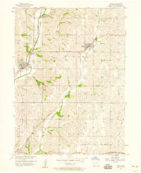 Download a high-resolution, GPS-compatible USGS topo map for Neola, IA (1958 edition)