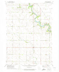 Download a high-resolution, GPS-compatible USGS topo map for Osage SW, IA (1974 edition)