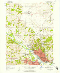 Download a high-resolution, GPS-compatible USGS topo map for Ottumwa North, IA (1958 edition)