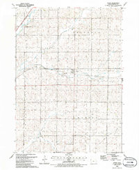 Download a high-resolution, GPS-compatible USGS topo map for Oyens, IA (1986 edition)