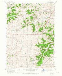 Download a high-resolution, GPS-compatible USGS topo map for Peosta, IA (1968 edition)