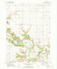 Download a high-resolution, GPS-compatible USGS topo map for Petersburg, IA (1973 edition)