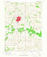 Download a high-resolution, GPS-compatible USGS topo map for Sigourney, IA (1966 edition)