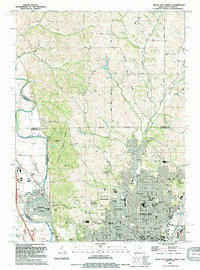 Download a high-resolution, GPS-compatible USGS topo map for Sioux City North, IA (1995 edition)