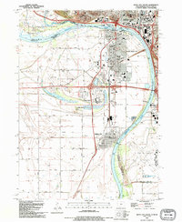 Download a high-resolution, GPS-compatible USGS topo map for Sioux City South, IA (1995 edition)