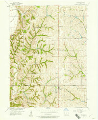 Download a high-resolution, GPS-compatible USGS topo map for Tabor, IA (1958 edition)