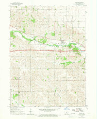 Download a high-resolution, GPS-compatible USGS topo map for Tiffin, IA (1967 edition)