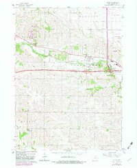 Download a high-resolution, GPS-compatible USGS topo map for Tiffin, IA (1983 edition)