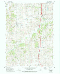 Download a high-resolution, GPS-compatible USGS topo map for Truro, IA (1983 edition)