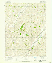 Download a high-resolution, GPS-compatible USGS topo map for Underwood, IA (1956 edition)