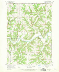 Download a high-resolution, GPS-compatible USGS topo map for Waukon NW, IA (1970 edition)