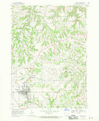Download a high-resolution, GPS-compatible USGS topo map for Waukon, IA (1970 edition)