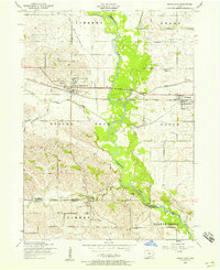 Download a high-resolution, GPS-compatible USGS topo map for Wheatland, IA (1958 edition)