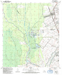 Download a high-resolution, GPS-compatible USGS topo map for Addis, LA (1992 edition)