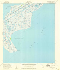 Download a high-resolution, GPS-compatible USGS topo map for Alligator Point, LA (1960 edition)