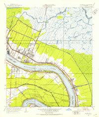 Download a high-resolution, GPS-compatible USGS topo map for Chalmette, LA (1953 edition)