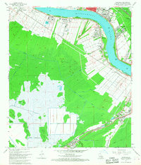 Download a high-resolution, GPS-compatible USGS topo map for Hahnville, LA (1968 edition)
