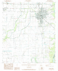 Download a high-resolution, GPS-compatible USGS topo map for Jennings, LA (1985 edition)