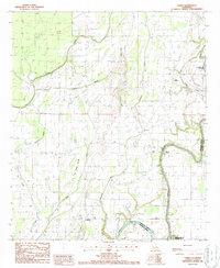 Download a high-resolution, GPS-compatible USGS topo map for Lamar, LA (1987 edition)