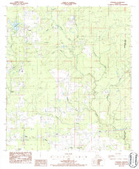 Download a high-resolution, GPS-compatible USGS topo map for Longville, LA (1986 edition)