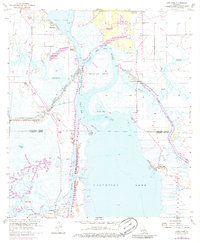 USGS 1:24000-scale Quadrangle for Moss Lake, LA 1955 - Data gov
