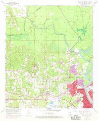 Download a high-resolution, GPS-compatible USGS topo map for West Monroe North, LA (1969 edition)