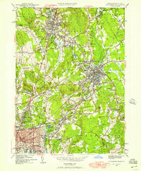 Download a high-resolution, GPS-compatible USGS topo map for Attleboro, MA (1957 edition)