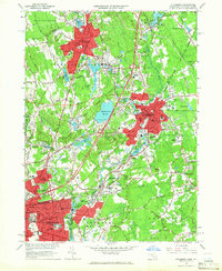 Download a high-resolution, GPS-compatible USGS topo map for Attleboro, MA (1966 edition)