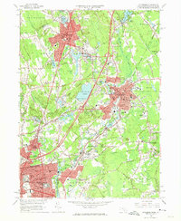 Download a high-resolution, GPS-compatible USGS topo map for Attleboro, MA (1974 edition)