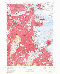 Download a high-resolution, GPS-compatible USGS topo map for Boston South, MA (1973 edition)