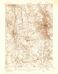 Download a high-resolution, GPS-compatible USGS topo map for Brockton, MA (1936 edition)