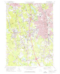 Download a high-resolution, GPS-compatible USGS topo map for Brockton, MA (1977 edition)