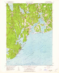 Download a high-resolution, GPS-compatible USGS topo map for Cotuit, MA (1963 edition)
