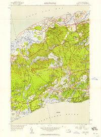 Download a high-resolution, GPS-compatible USGS topo map for Dennis, MA (1958 edition)