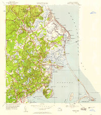 Download a high-resolution, GPS-compatible USGS topo map for Duxbury, MA (1958 edition)