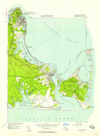Download a high-resolution, GPS-compatible USGS topo map for Edgartown, MA (1958 edition)