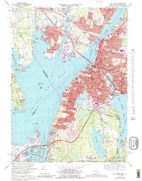 Download a high-resolution, GPS-compatible USGS topo map for Fall River, MA (1988 edition)