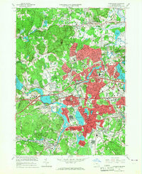 Download a high-resolution, GPS-compatible USGS topo map for Framingham, MA (1967 edition)