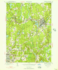 Download a high-resolution, GPS-compatible USGS topo map for Franklin, MA (1956 edition)