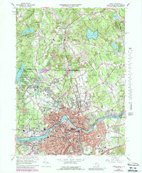 Download a high-resolution, GPS-compatible USGS topo map for Lowell, MA (1988 edition)
