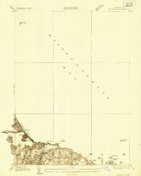 Download a high-resolution, GPS-compatible USGS topo map for Nantasket, MA (1936 edition)
